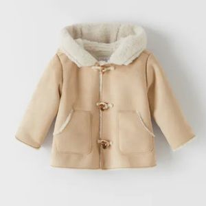 Zara Baby Double Faced Toggle Coat with Hood NWT